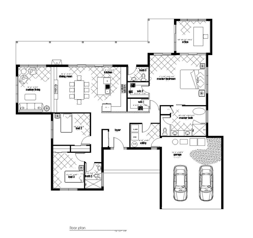 Mid century floor plans for Mid century ranch house plans
